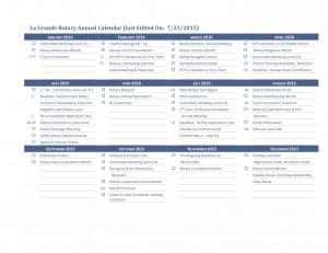 La Grande Rotary Annual Calendar